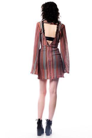 Stripe Multi Coloured Long Sleeve Dress