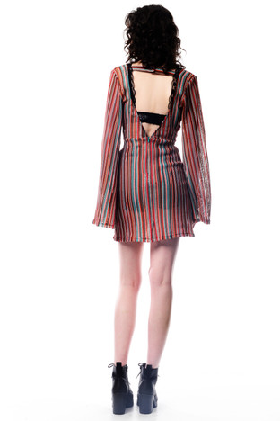 Stripe Multi Coloured Long Sleeve Dress