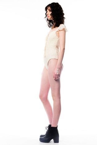 Lace Cream Leotard