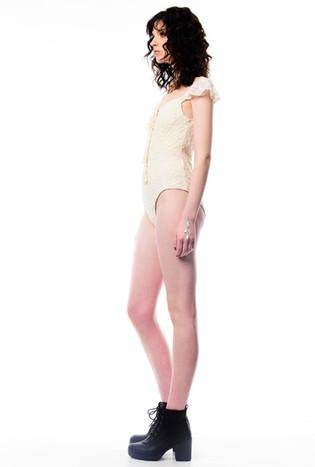 Lace Cream Leotard