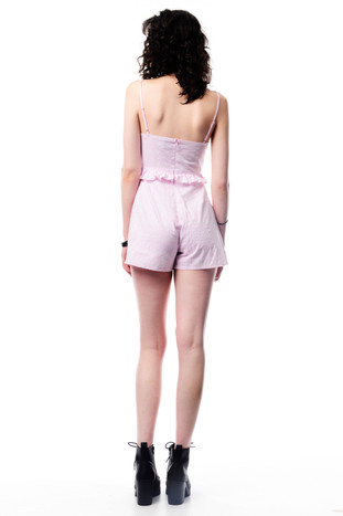 Baby Pink Crop with Ruffles & Baby Pink Shorts
