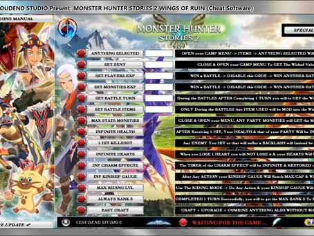 MONSTER HUNTER STORIES 2 CHEATS, TRAINER, MOD + FULL ITEMS EDITOR + STAT GENE MONSTIES & FREE CRAFT!