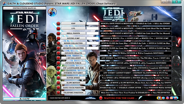 Star Wars Jedi Fallen Order, Trainer, Cheats, Mod, Cheat Happens, Fling Trainer, Wemod, Cheat Engine, Cheat Table, Ign,
