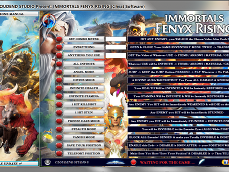 IMMORTALS FENYX RISING CHEAT, TRAINER, MOD, CODE, EDITOR, ANGEL MODE, GET ALL [FREE UPDATE LIFETIME]