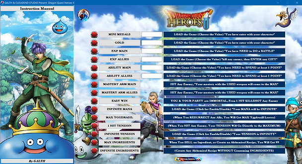 DRAGON QUEST HEROES II Cheat Software (LIFE-TIME KEY)