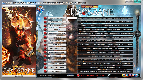 warhamme chaosbane, warhammer, Cheat, Trainer, Mod, Cheat happens, Fling Trainer, Cheat Engine, We Mod,