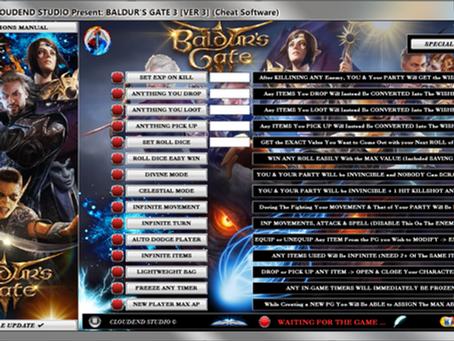 BALDUR'S GATE 3 CHEAT, BG3 TRAINER, MOD, CODE, SAVE EDITOR, EASY ROLL, PERFECT ABILITIES, UNLOCK ALL