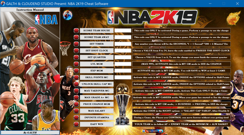 NBA 2k19 Cheat Software