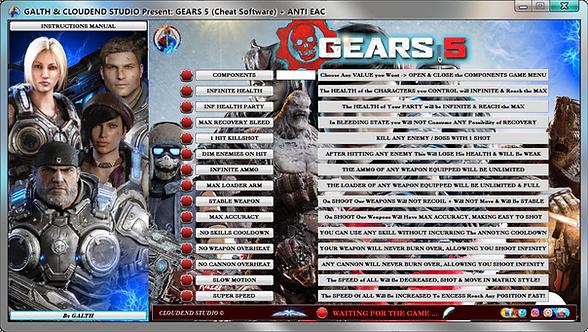 Gears 5, Gears Of War 5, Gears Of War, Cheats, Mod, Anti Eac, Bypass Eac, Borderlands 3, Cheat happens, Cheat Engine, FRF,