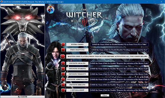 THE WITCHER 3 WILD HUNT Cheat Software (Over 2947 Codes) (LIFE-TIME KEY)