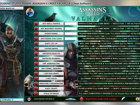 ASSASSIN'S CREED VALHALLA TRAINER, CHEATS, MOD, CODES, ITEMS EDITOR, UNLOCK ALL, LIFE-TIME KEY