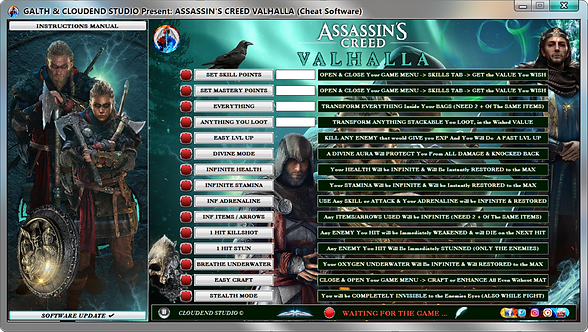 Assassin's Creed Valhalla, Cheat Engine, Cheats, Trainer, Mods, Codes, Editor, Cheat Happens, Fling Trainer, WeMod