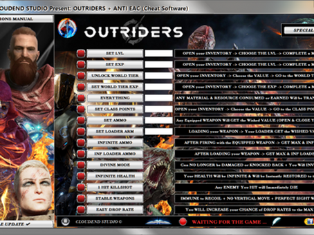 OUTRIDERS CHEATS, TRAINER, MOD, CODES, SAVE EDITOR, RARITY EDITOR, EASY DROP RATE, UNLOCK ALL!