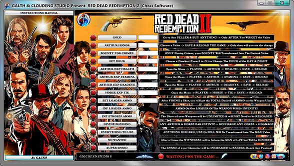 RDR 2, Red dead redemption 2, cheats, trainer, mod, wemod, mega dev, mega trainer, cheat happens, cheat engine, Supercheat,
