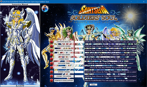 #CLOUDEND STUDIO,  #SAINT SEIYA SOLDIERS' SOUL, #Cheat, #Steam, #PC, #Namco