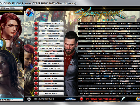 CYBERPUNK 2077 + EDITOR EDITION, CHEATS, TRAINER, MOD, CODES, FREE  UPDATE LIFE-TIME - OVER 56 CODE!