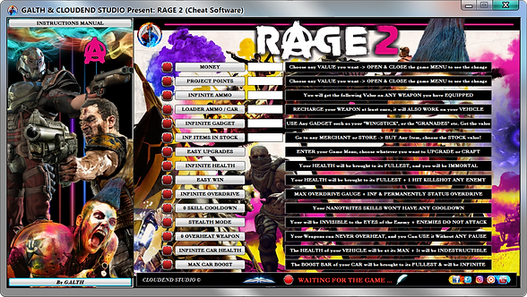 Rage 2, Cheats, Software, Mod, Trainer, Rage, Gaming, Cheat Engine, We Mod, Cheat Happens, Cheat Table, TerrorMania, Shooter