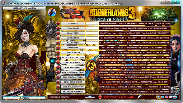 Borderlands 3, Cheat, Cheat Happens, Fearless Revolution, Free, Ps4, Steam, Epic Games, Trick, Mod, Legendary Weapons, 100%,