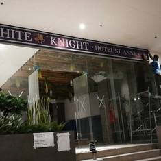 White Knight Hotel Panaflex Sign