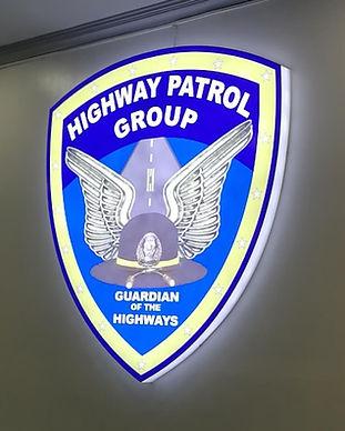 Highway Patrol Group Acrylic Build Up Lightbox in Camp Crame San Juan