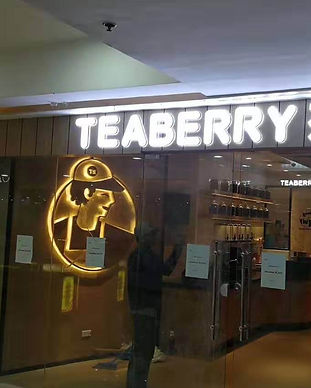 Teaberry Milktea Signage with Acrylic and Stainless Steel in Alabang NCR