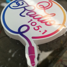 Acrylic Sticker Logo Sign