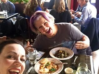 Eating together, a favorite pastime