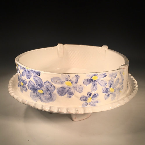 Fruit Bowl Blue and White