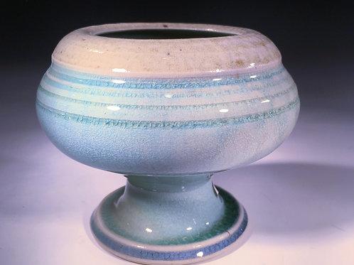 Porcelain Wood Fired Pedestal Vase