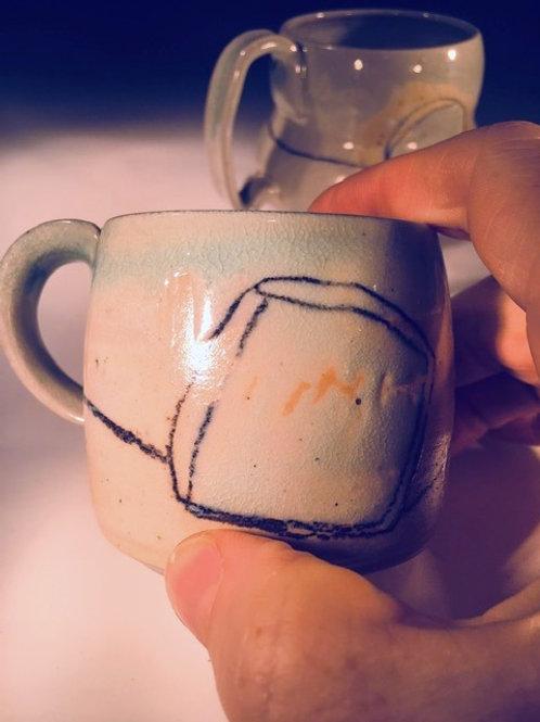 Demitasse Cup with Wax Resist
