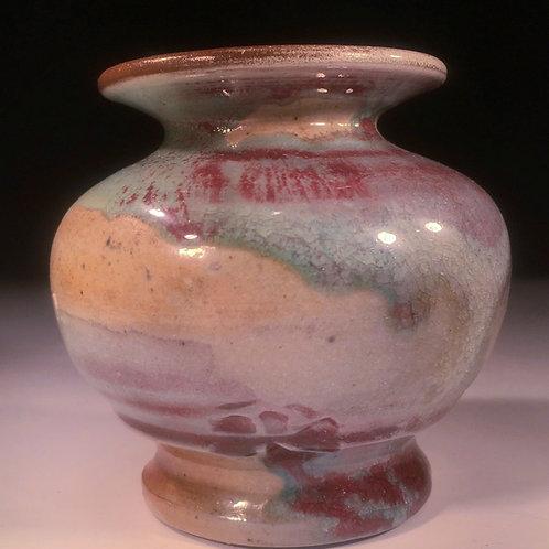 Small Stoneware Bud Vase Wood Fired