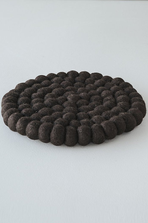 Pecora Felt Trivet - Walnut