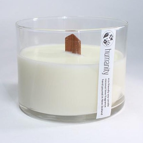 Wooden Wick Soy Candle - Coconut Lime
