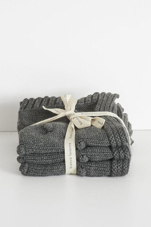 Fronzolo Charcoal Washcloths - Set of three