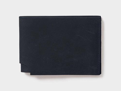 Men's Leather Slimline Wallet - Black