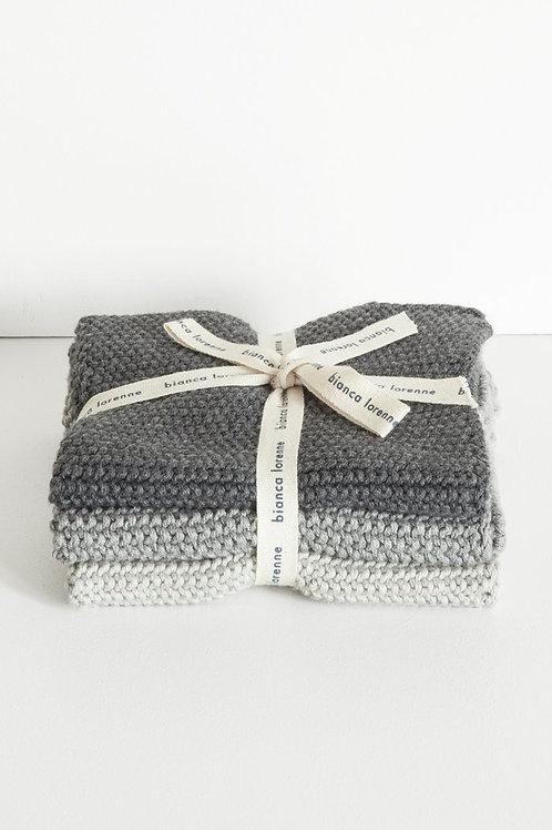 Lavette Grey Washcloths - Set of three