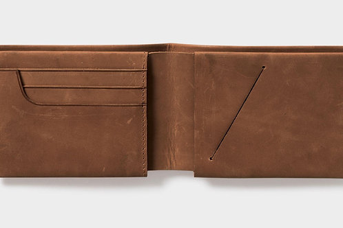 Men's Leather Slimline Wallet - Tan