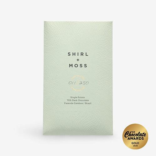 Shirl + Moss Single Estate 70% Dark Chocolate Bar
