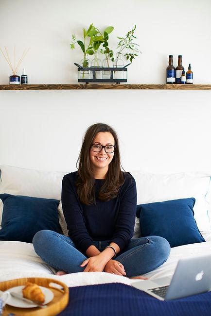 The founder of The London Sleep Company Amy Paris