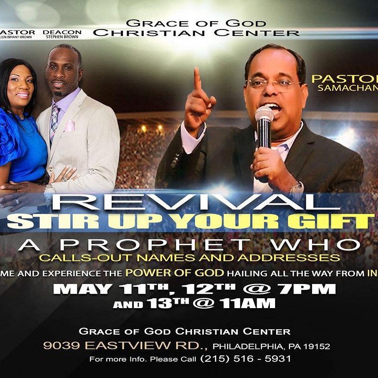 Revival - Stir Up Your Gift - May 11th, 12th & 13th
