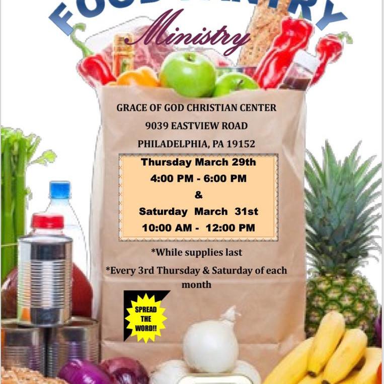Food Pantry Every 3rd Thursdays & Saturdays