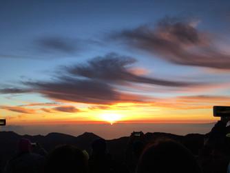 An epic sunrise ...