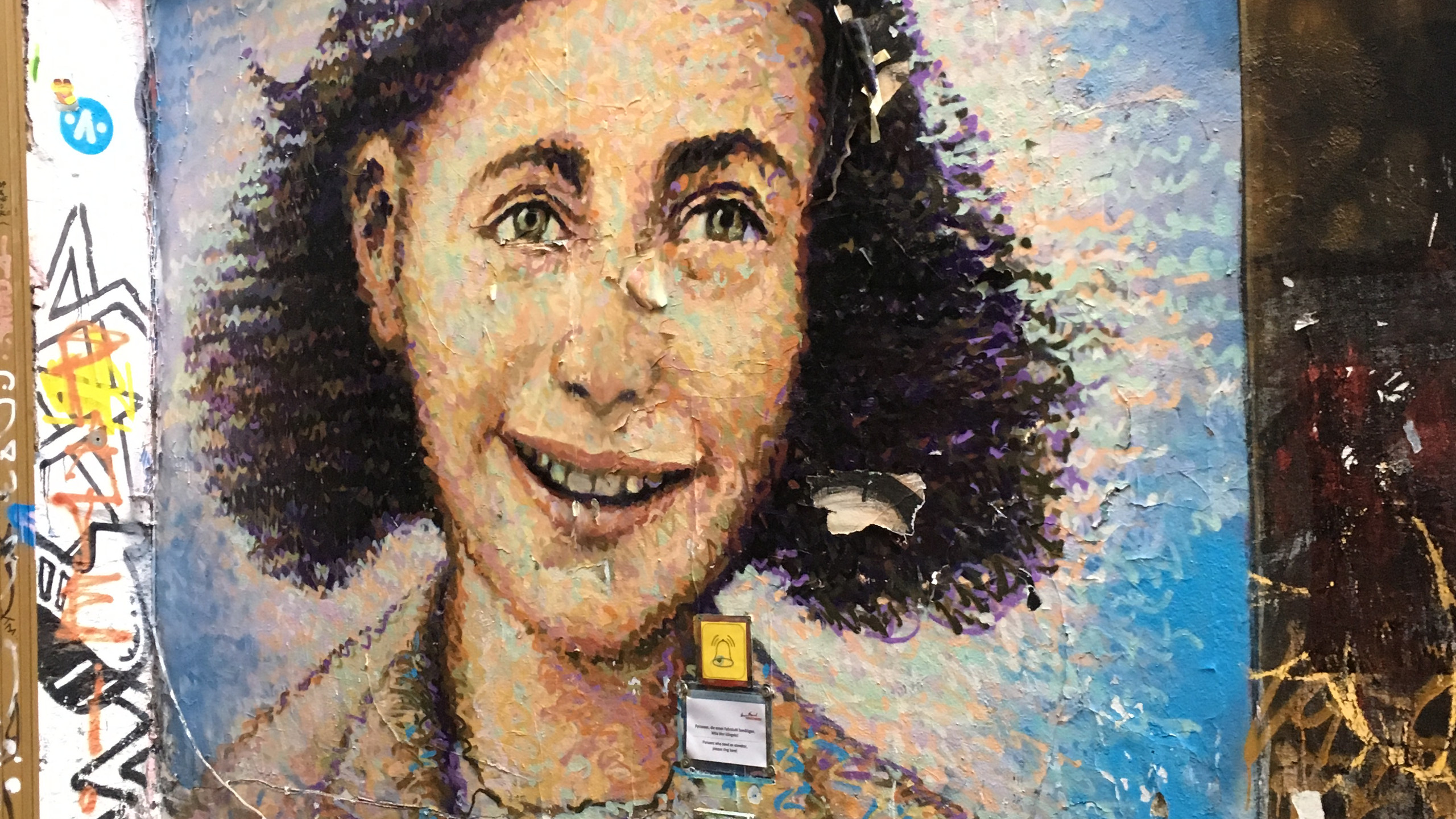 street art - Anne Frank