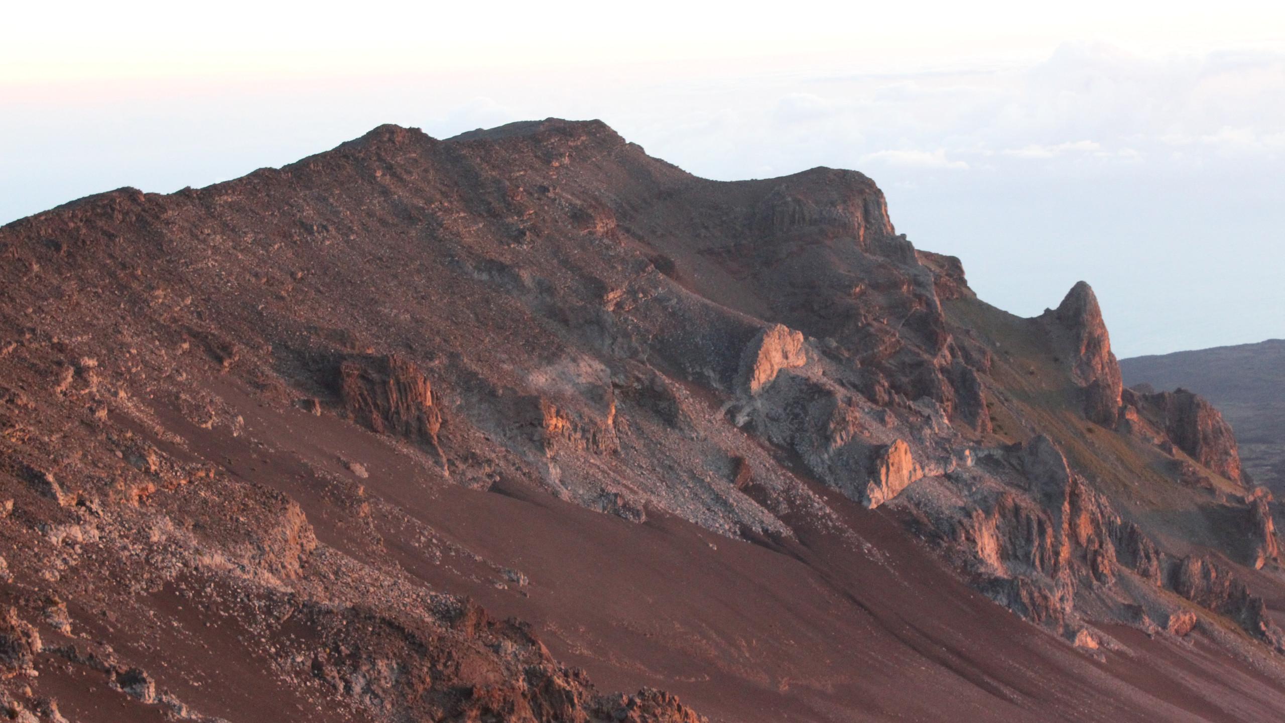 Haleakala Crater (Western wall) in the sun light