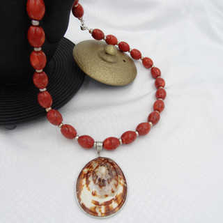 coral, freshwater pearls, sea shell.JPG
