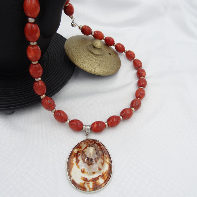 coral, freshwater pearls, sea shell.JPG