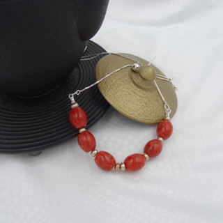 coral, gold freshwater pearls.JPG