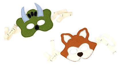 children's felt masks, made in USA kid accessories