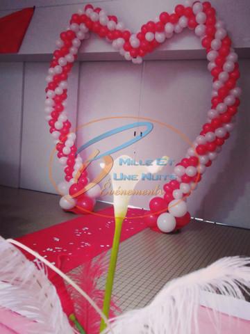 Décoration Arche Coeur de Ballon: en Bretagne (ille et vilaine, Fougères, Rennes, Vitré), Normandie, Pays de la loire