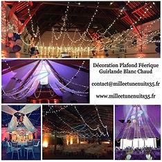 Plafond fééerique, Plafond Guinguette, Plafond ciel étoilé. décoration plafond gurlande led
